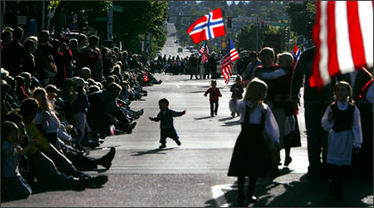 Ballard's Market Street was packed during the Norwegian Constitution Day Parade. This year's parade marked the 100th anniversary of Norway's independence.
