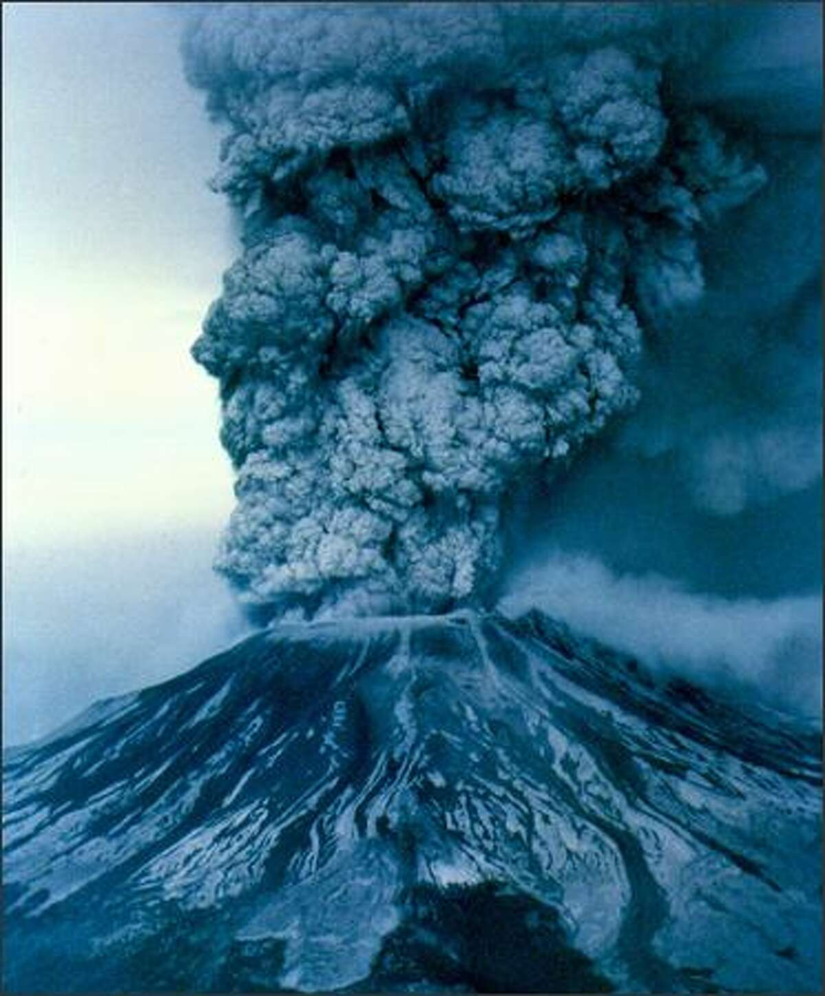 On May 18, 1980, Mount St. Helens erupted, causing widespread damage and sending ash thousands of feet into the air. P-I file photo by Grant M. Haller