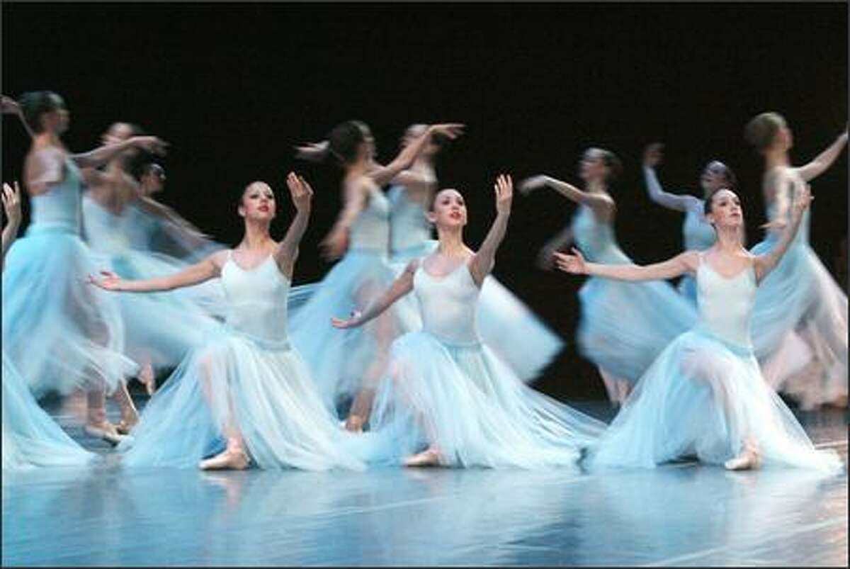 Pacific Northwest Ballet School students perform the opening of the first movement of