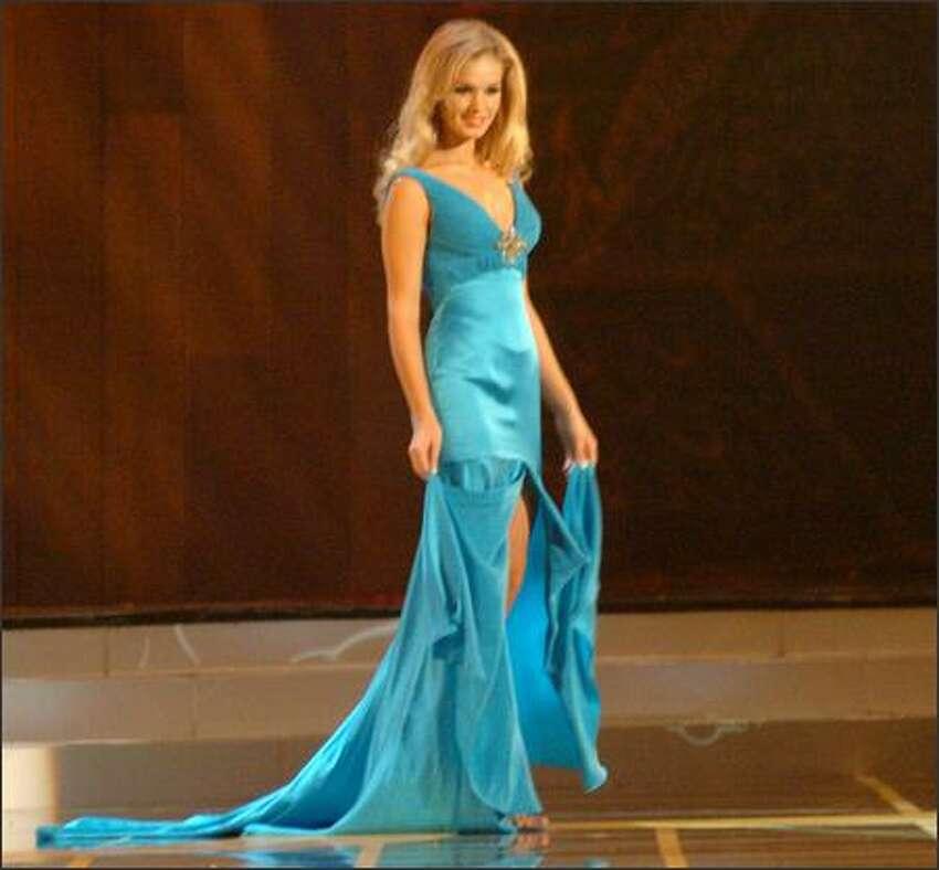 Miss Universe 2005 semi-finalist Ieva Kokorevica, Miss Latvia.