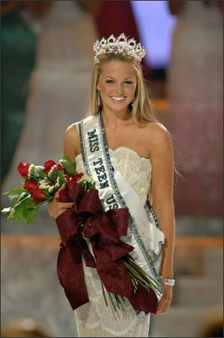 Allie LaForce takes the traditional runway walk for the audience in Baton Rouge, La.