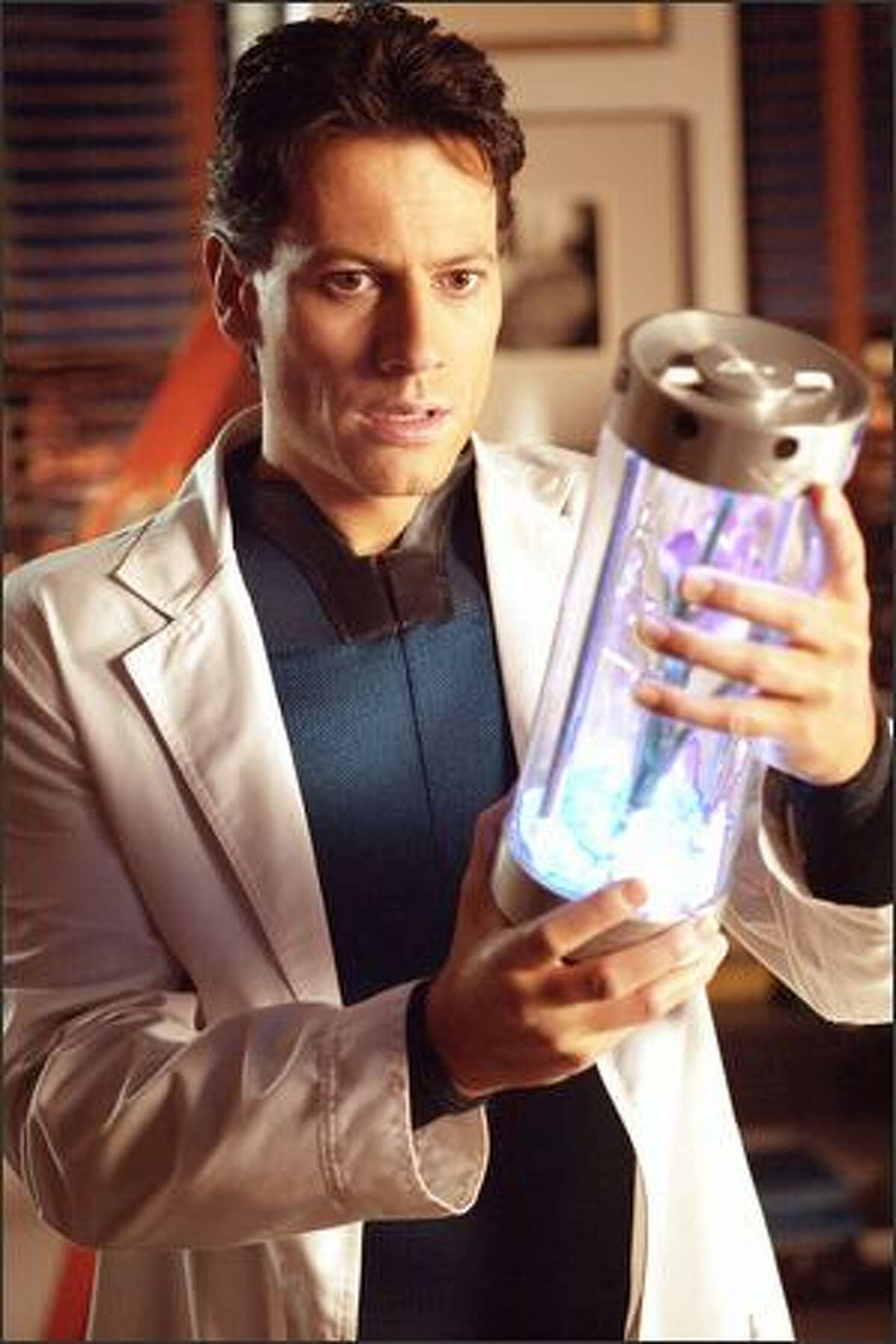 Ioan Gruffudd portrays scientific genius Reed Richards, aka Mr. Fantastic, who gains the ability to stretch and reshape his body.