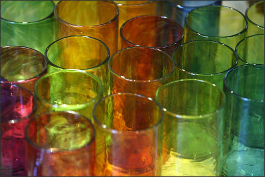 Smith's showroom includes everyday items such as drinking glasses.