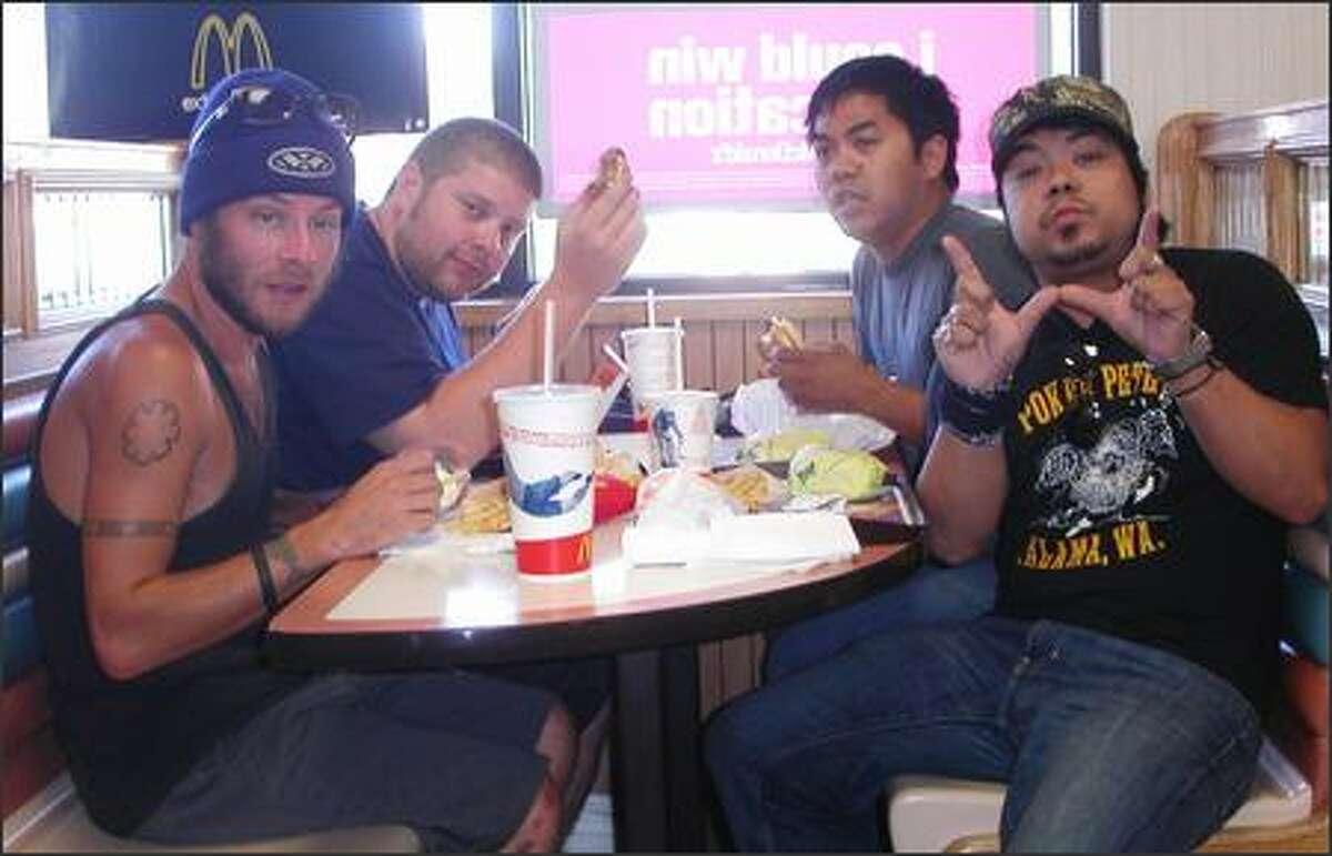 The Degrees (left to right): Andy Coffey, Ken Smith, Lino Fernandez, Reylan Fernandez Interview
