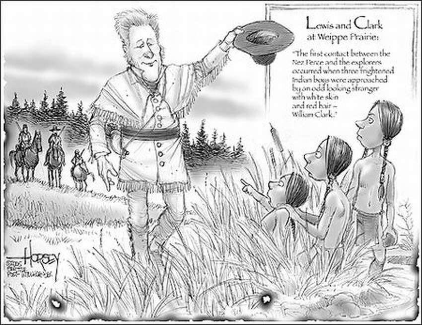 Lewis and Clark at Weippe Prairie:
