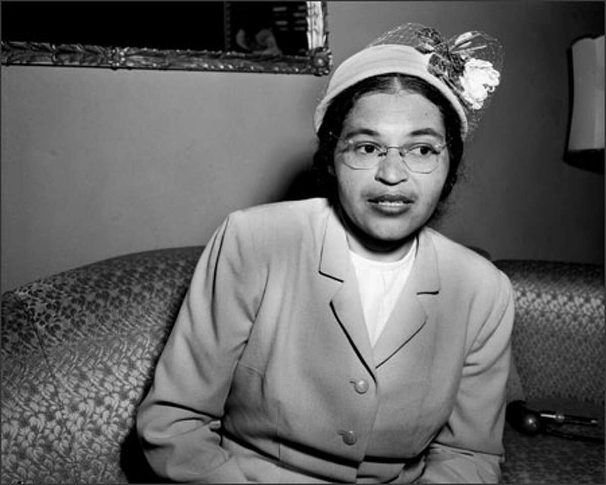 On December 1, 1955, Rosa Parks had risked the wrath of a racist bus driver in Montgomery, Alabama. She refused to move to the back of his bus to make space for white riders, breaking one of the city's segregation laws. Parks was arrested, and fined $14, but appealed this decision all the way to the United States Supreme Court, which ruled in her favor on November 13, 1956. She made a brief visit to Seattle in March of 1956.