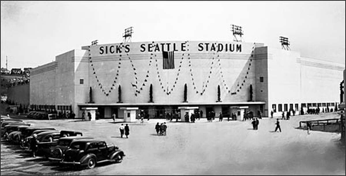 Sick's Seattle Stadium opened in 1938 at Rainier Avenue South and South McClellan Streets. This had been the site of Dugdale Park, built in 1913 as home of the Seattle Indians. That ballpark burned to the ground after a Fourth of July celebration in 1932. The new park, built of steel and concrete, cost $125,000 and was the home of the Pacific Coast League Seattle Rainiers, owned by Emil Sick. In spite of protests, the stadium was demolished in 1979.