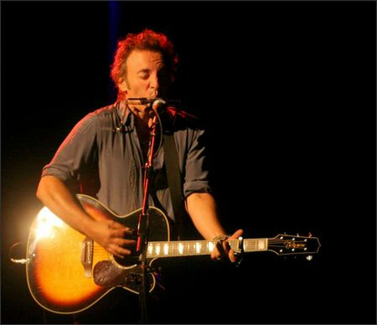 Bruce Springsteen performs the song