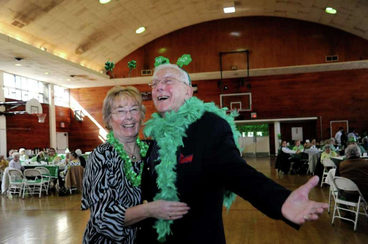 Helma Varga and Frank Sacco dance at Greenwich Senior Center's St. Patrick's Party at the Eastern Greenwich Civic Center, on Thursday, March 17, 2011.