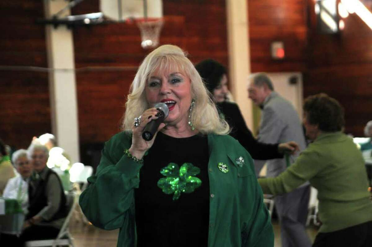 Patsy Shore sings at Greenwich Senior Center's St. Patrick's Party at the Eastern Greenwich Civic Center, on Thursday, March 17, 2011.
