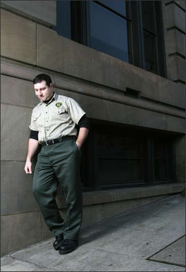Joseph Pellegrini left the King County Sheriff's Office in 2000, convinced that what he was being asked to do as a rookie deputy by training officers was illegal. He's now a security officer with King County Facilities. Photo: Meryl Schenker, Seattle Post-Intelligencer