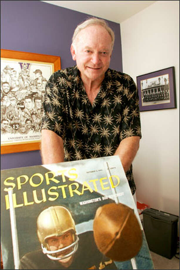 Former UW quarterback and Sports Illustrated coverboy Bob Schloredt was the first person to twice be named most valuable player of the Rose Bowl. Photo: Niki Desautels/Seattle Post-Intelligencer / SEATTLE POST-INTELLIGENCER
