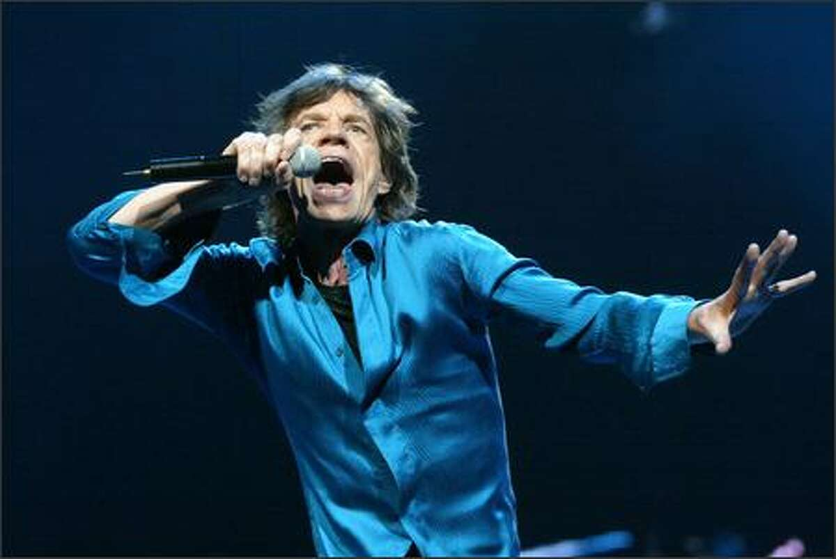 Mick Jagger belts out