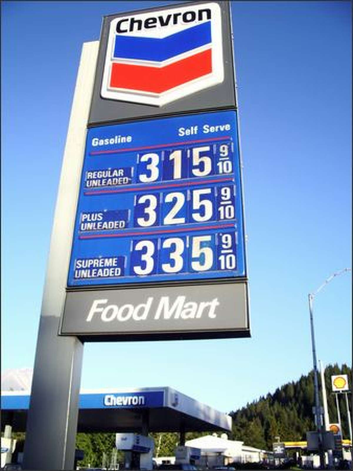 The price of gas in Weed, Calif., on Sept. 19, 2005. Sad thing is that in a few months we all will look at this sign and say