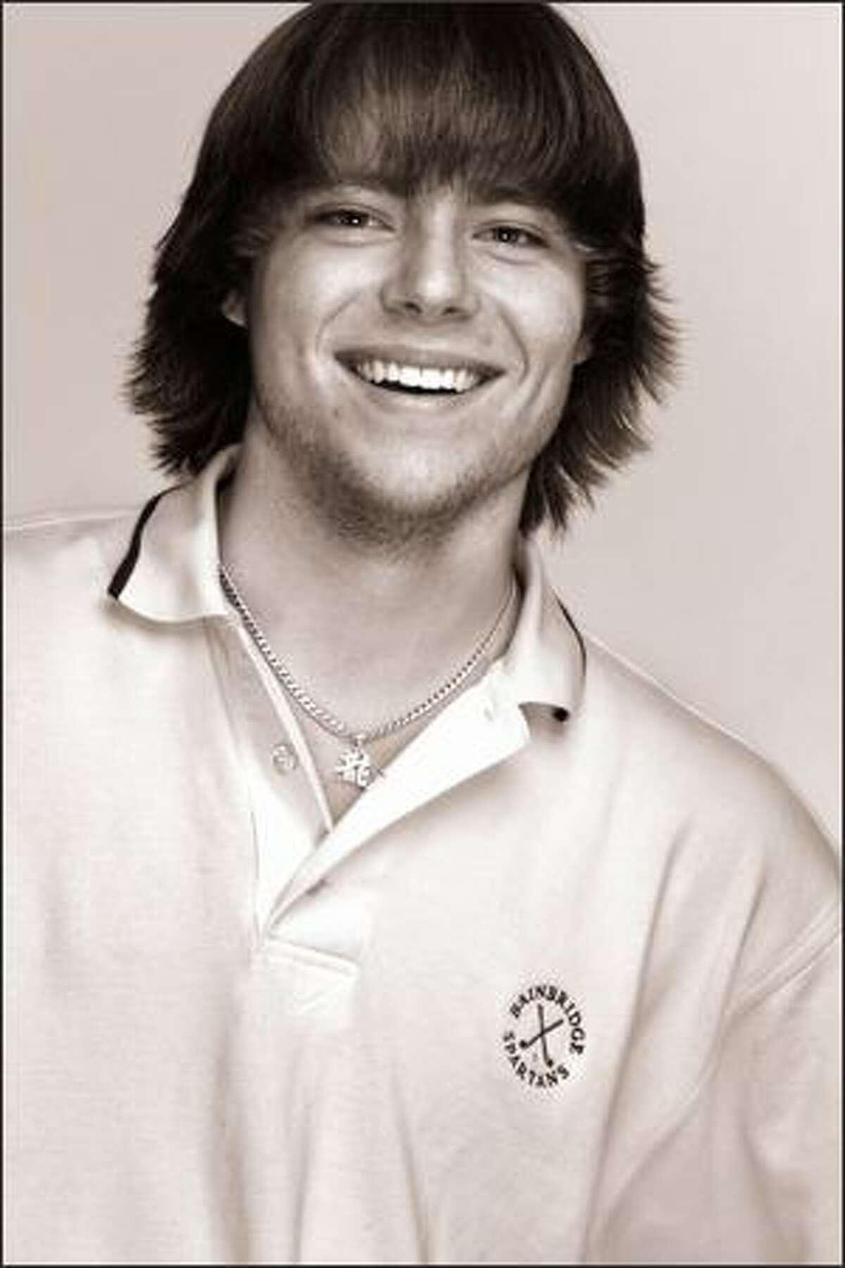 Austin Hurt, boys golf MVP.