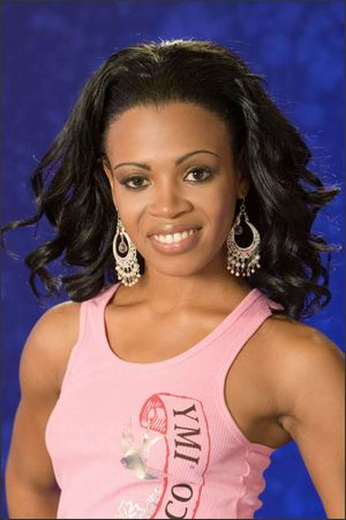 Trinere Lynes, Miss Bahamas 2007, poses in her YMI Jeanswear at the Camino Real Mexico in Mexico City on May 4. She will compete for the title of Miss Universe 2007 during the NBC broadcast of the 56th annual Miss Universe competition from Mexico City on May 28.