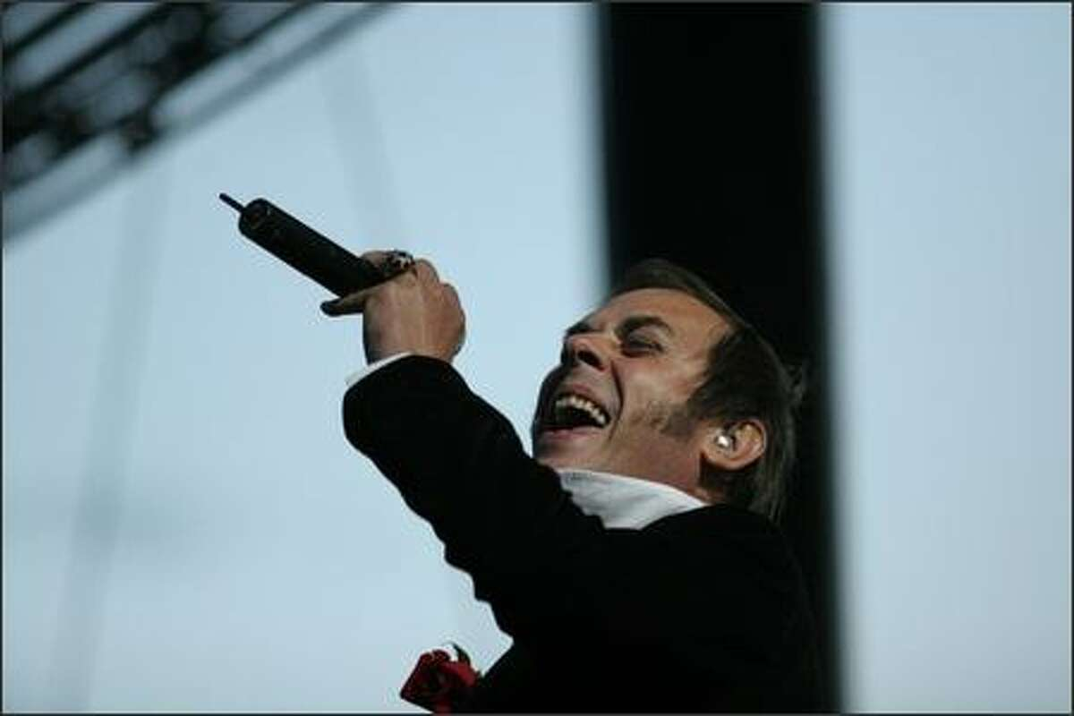 Bauhaus frontman Peter Murphy performs on the opening night of the three-day Sasquatch! Music Festival at the Gorge in Washington state.