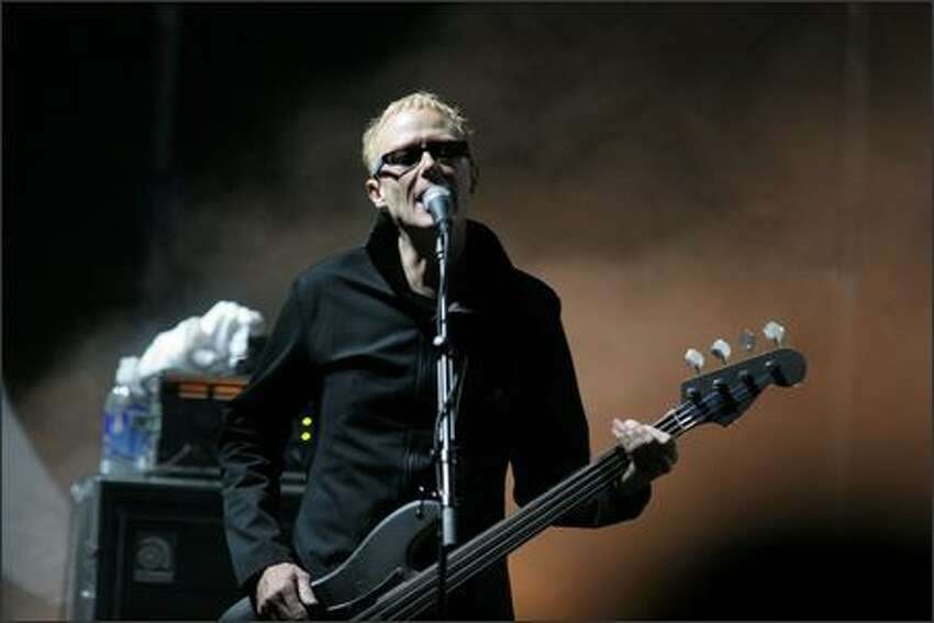 Bauhaus bassist David J performs at the three-day Sasquatch! Music Festival at the Gorge in Washington state.
