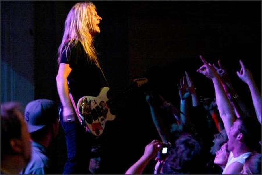 Jerry Cantrell performs for Alice in Chains at the Moore. Photo: Grant M. Haller, Seattle Post-Intelligencer