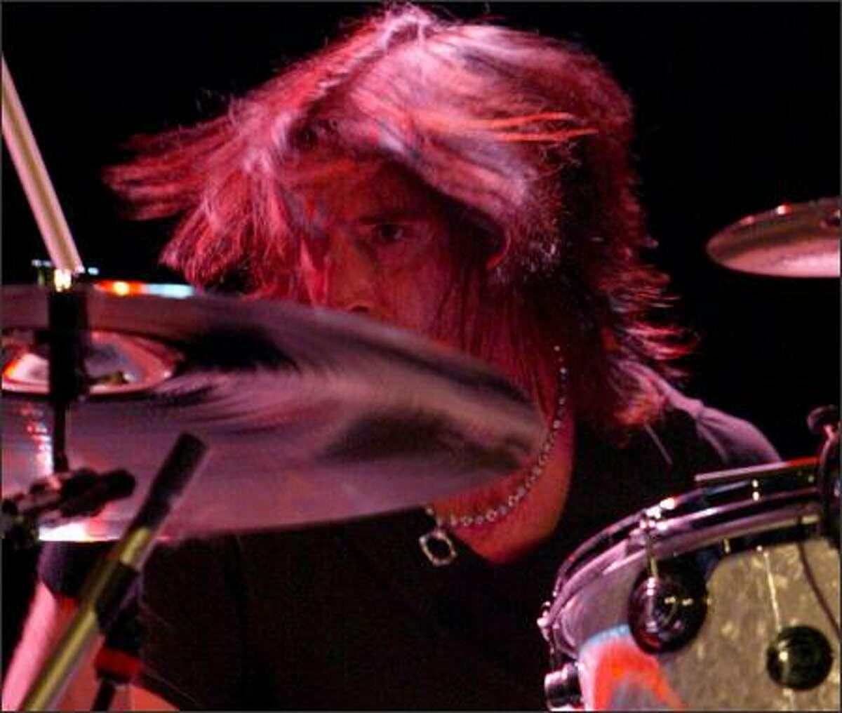 Drummer Sean Kinney at work.