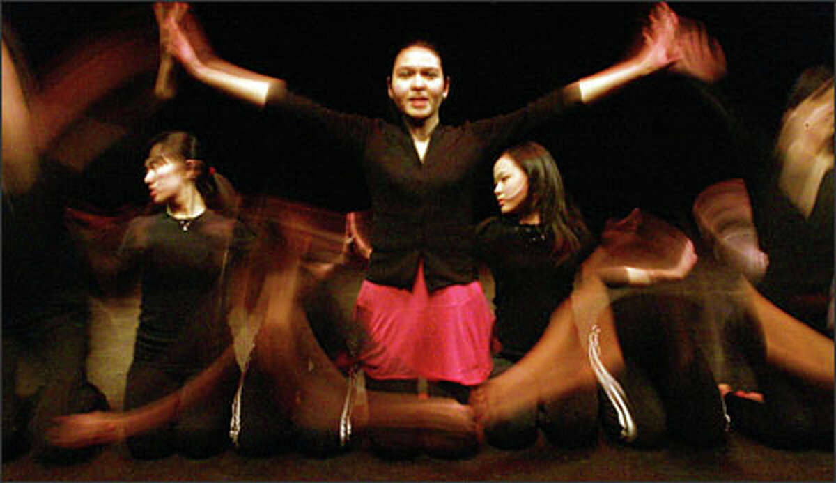 The saman dance, an Indonesian folk dance described as