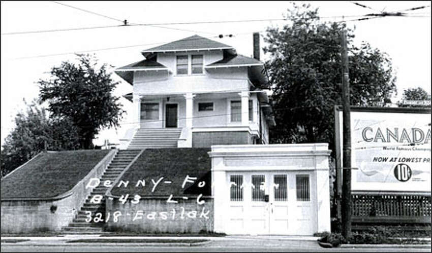 A historic photo of the home at 3218 Eastlake Ave. E., which belonged to the Larson family for many years before its sale.
