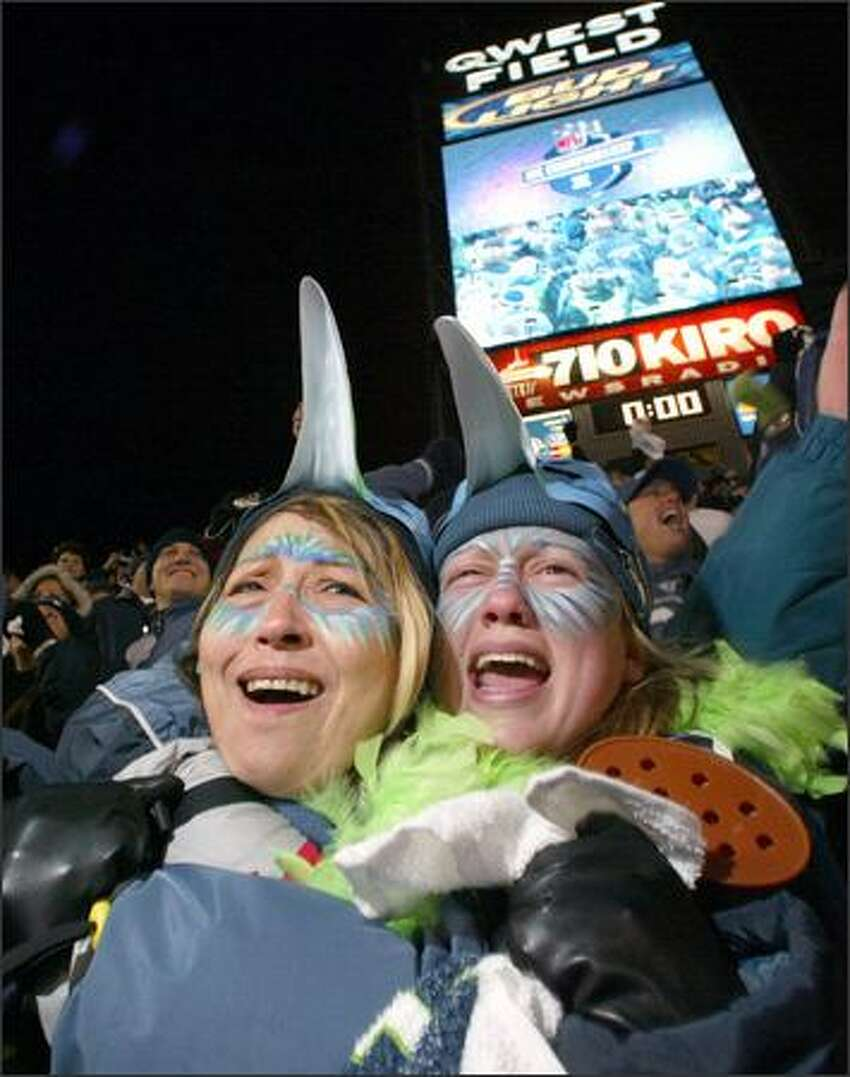 Seahawks fans are overjoyed after seeing Seattle defeat the Carolina Panthers to earn their first trip to the Super Bowl.