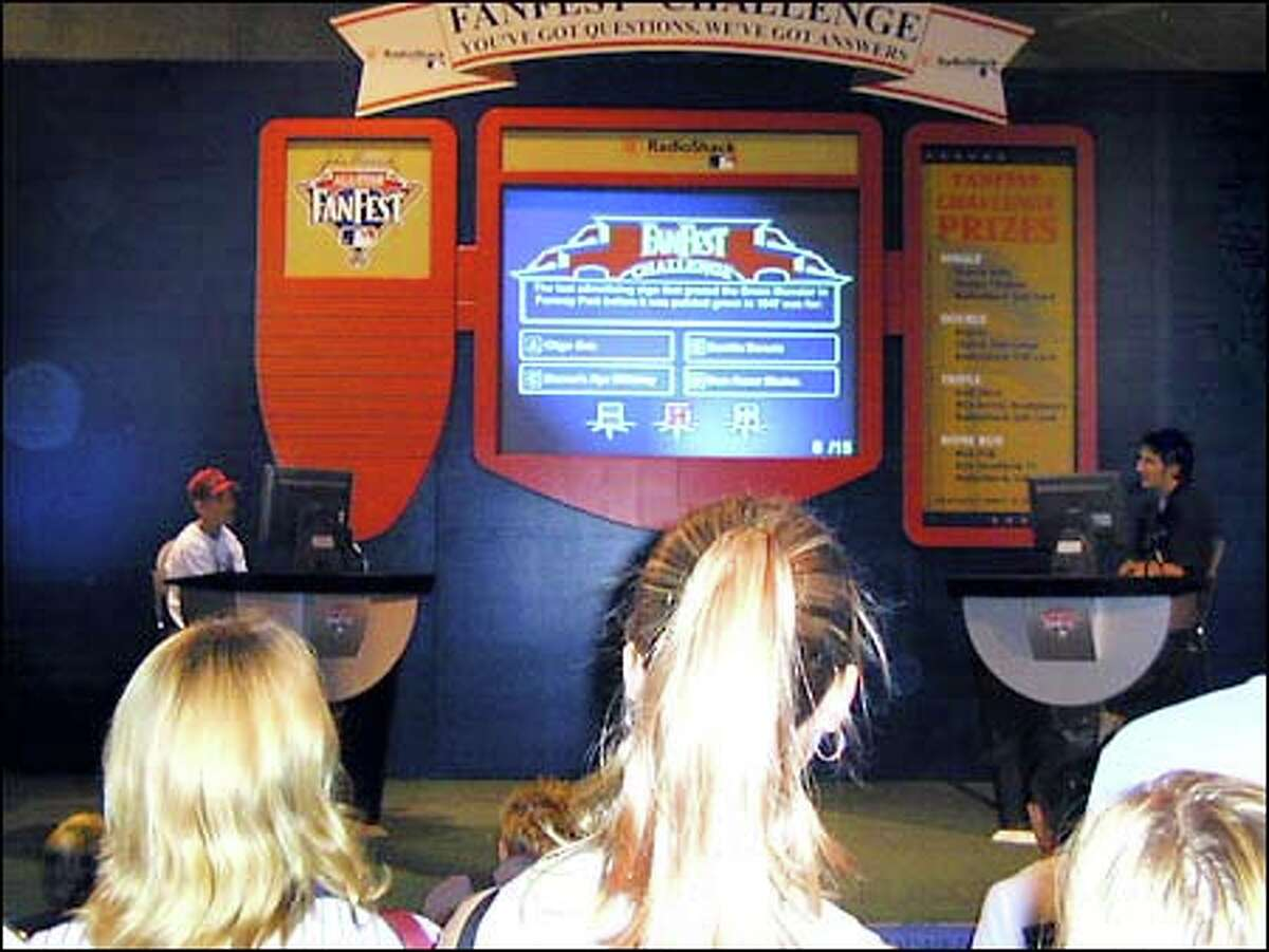 One of the most popular attractions was a version of the TV game show