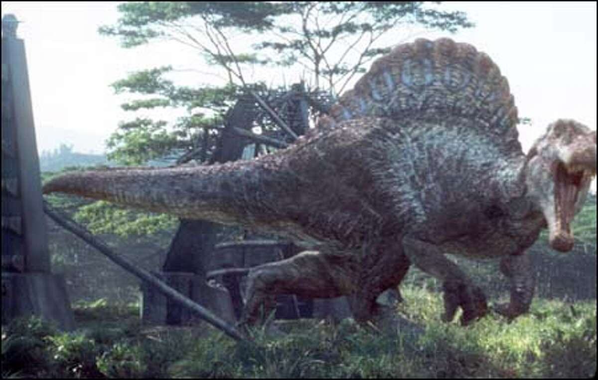 A closer look at the Spinosaurus, the new king of the prehistoric jungle.
