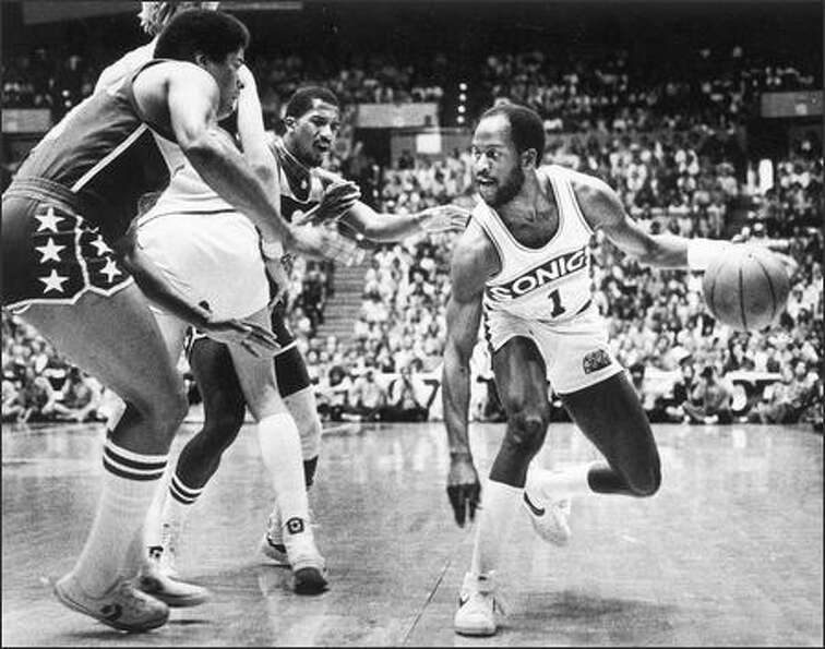 1979: Seattle Sonics player Gus Williams.