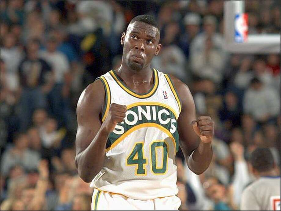 Shawn Kemp on Nov. 5, 1994. (Photo by Gilbert W. Arias)