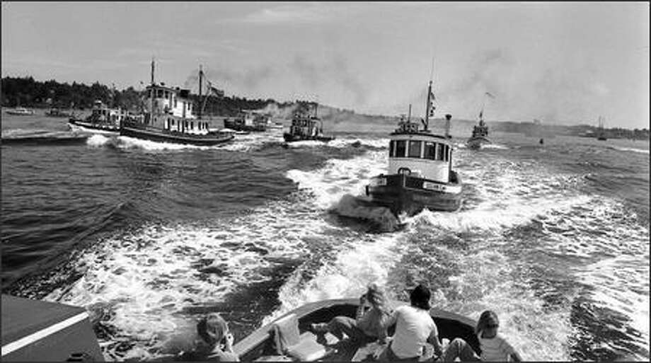 Puget Sound's maritime heritage is honored by annual tugboat races in Olympia in this undated photo. Photo: Phil H. Webber, Seattle Post-Intelligencer