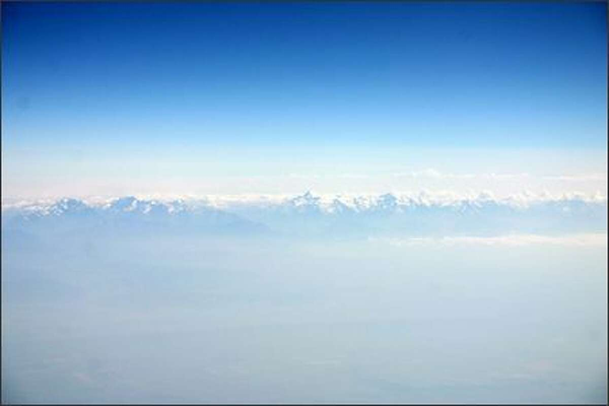 View of the mountains on the flight from Italy to Kazakhstan. (PHOTO COURTESY OF GEOFFREY THOMAS)