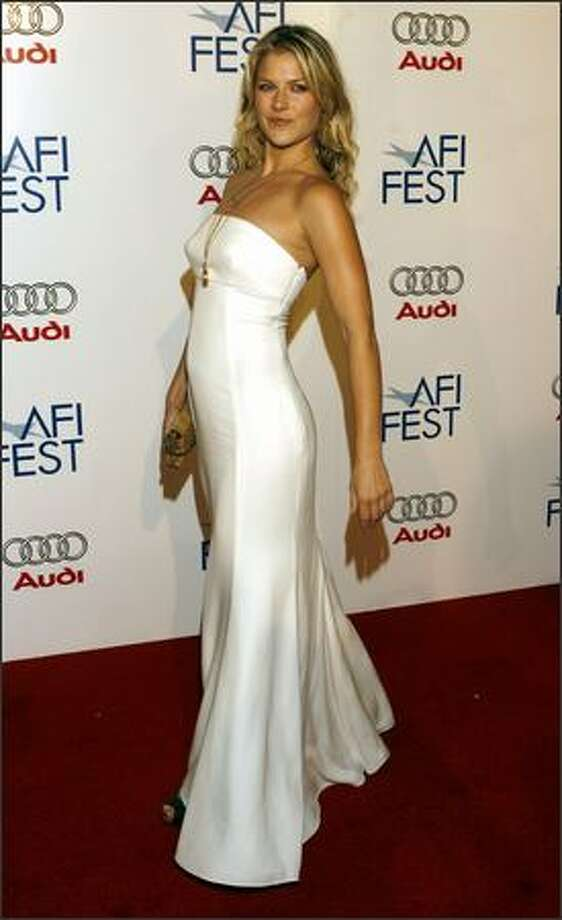 "Actress Ali Larter arrives for the premiere of the movie ""Bobby"" during the opening night of AFI Fest 2006, Wednesday in Los Angeles. (AP Photo/Danny Moloshok)"