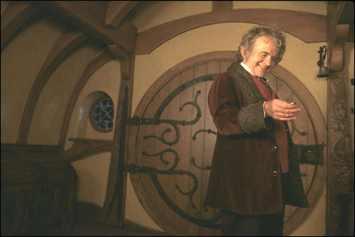 Ian Holm as Bilbo Baggins.