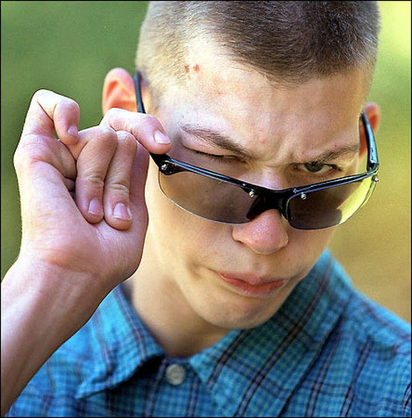 Jeb Locklear, a high school senior, mimics his hero,