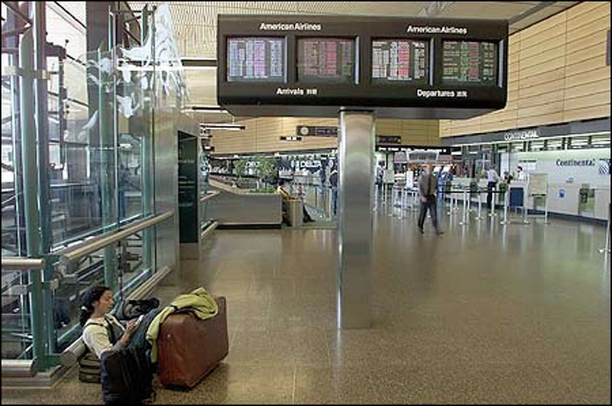 Sea-Tac Airport is empty after all flights were canceled following the terrorist attack Tuesday morning.