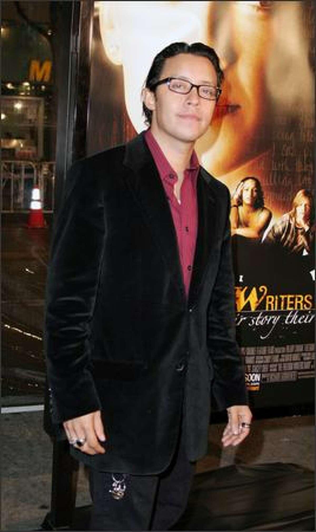 Efrem Ramirez arrives on the red carpet for the Los Angeles premiere of