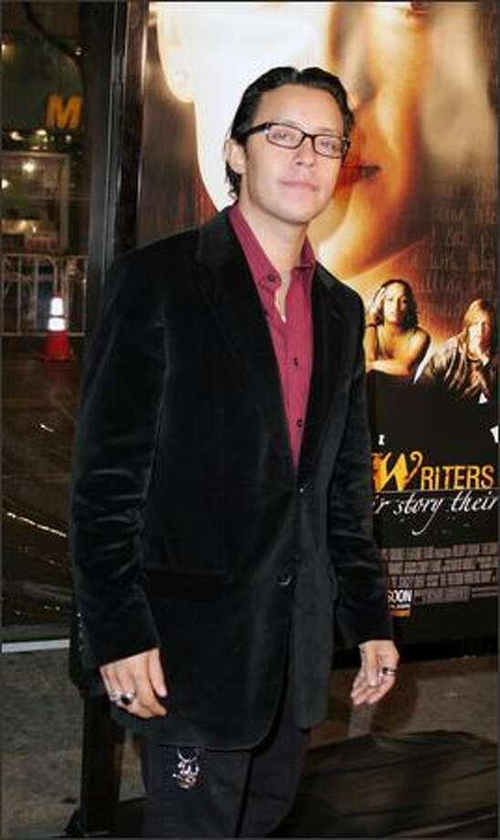 """Efrem Ramirez arrives on the red carpet for the Los Angeles premiere of """"Freedom Writers"""" at the Mann Village Theatre in Westwood, Calif. Photo: Peterson Gonzaga, VNU Entertainment News Wire"""