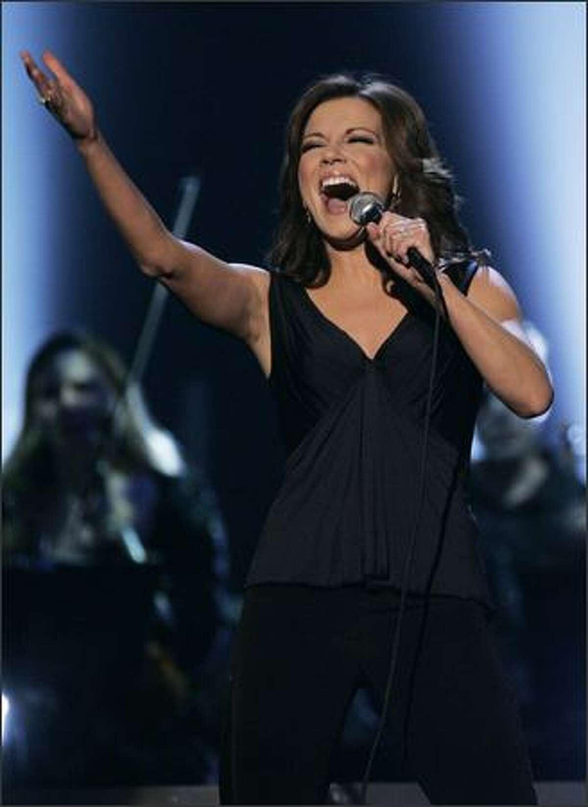 Martina McBride performs at the 40th Annual CMA Awards in Nashville, Tenn., on Monday. (AP Photo/Mark Humphrey)