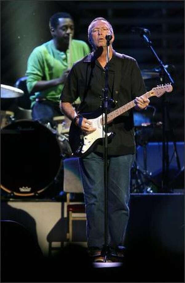 Eric Clapton plays KeyArena. Photo: Mike Urban, Seattle Post-Intelligencer