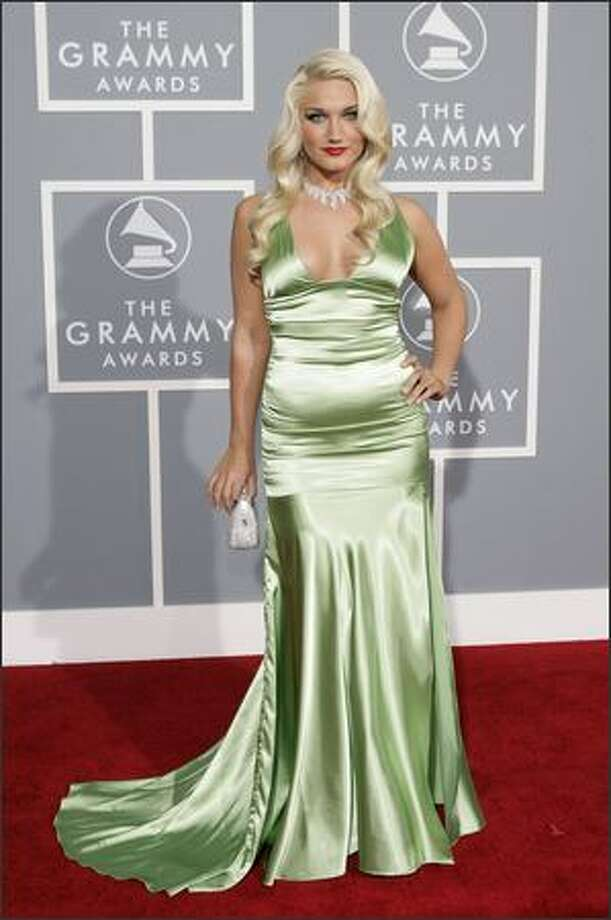 Brooke Hogan arrives for the 49th Annual Grammy Awards. (AP Photo/Matt Sayles) Photo: Associated Press
