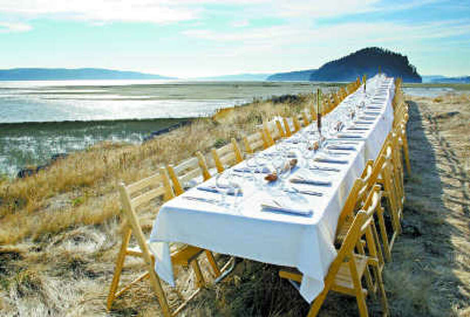 On Food An Outdoor Feast Turns Into An Adventure In Extreme Dining - Outdoor communal table
