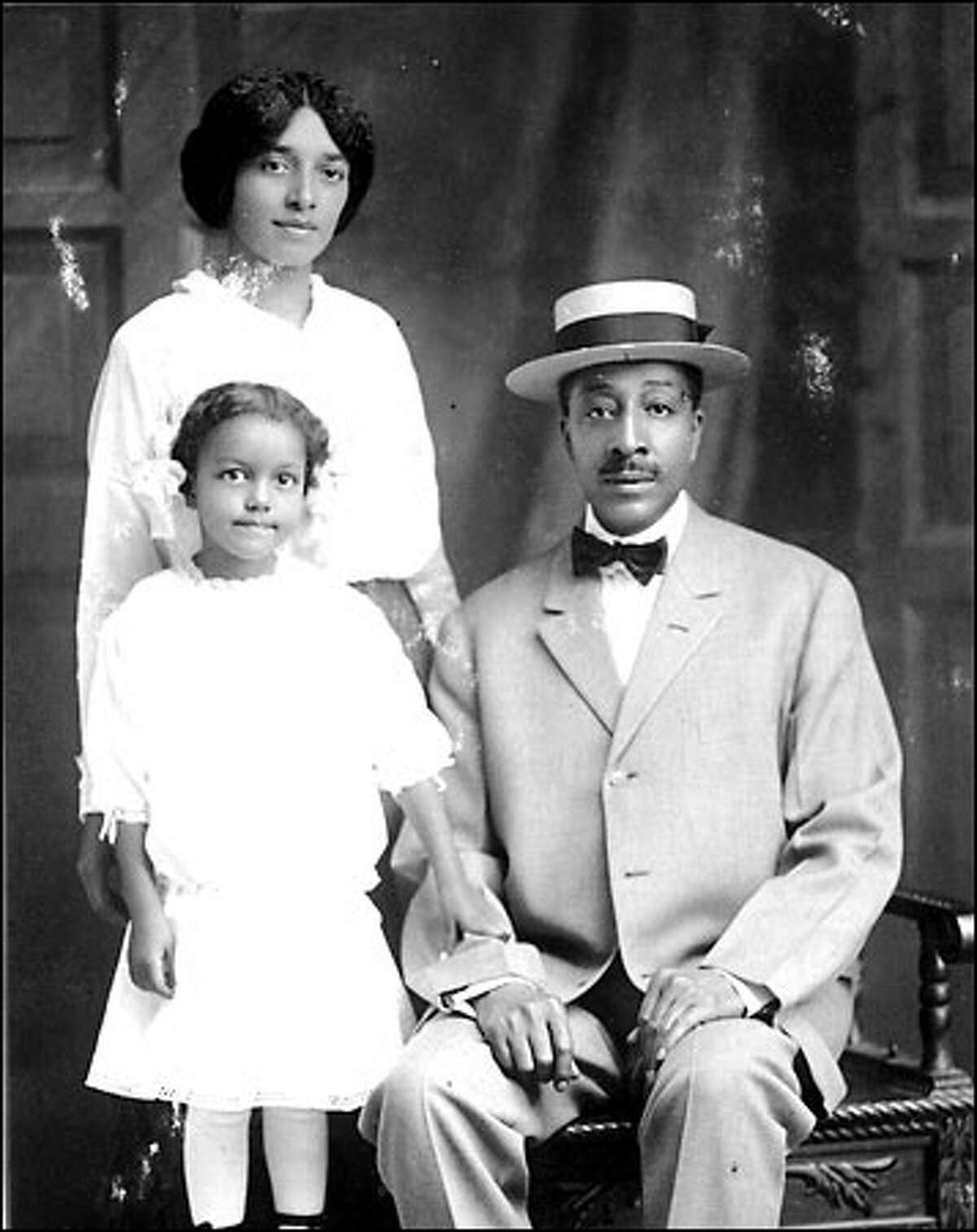 The identities of this early 20th century Seattle family are unknown, but the portrait shows that family life had become an important element of black Seattle since frontier days, when most residents were male.