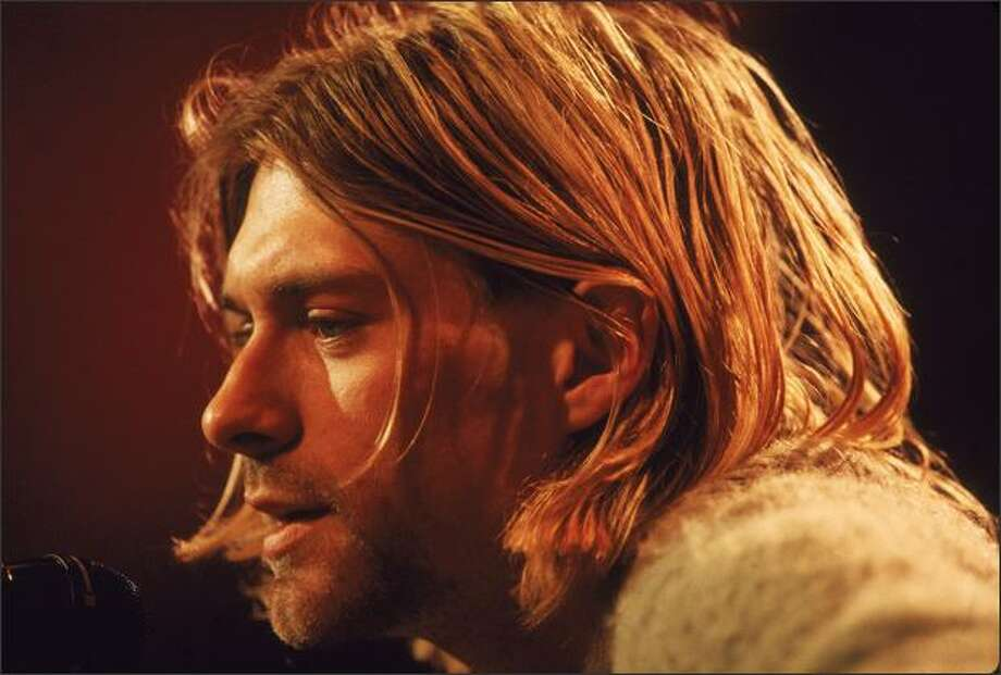 Singer and guitarist Kurt Cobain performs with his group Nirvana at a taping of the television program 'MTV Unplugged,' New York, New York, Novemeber 18, 1993. Photo: Getty Images