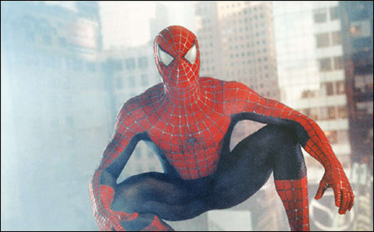 New York has a new protector in Spider-Man (Tobey Maguire).