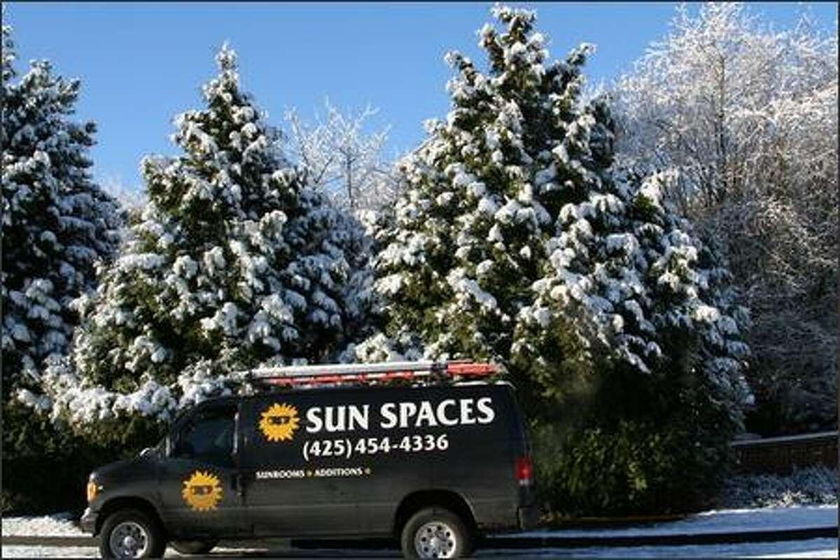 "A ""Sun"" truck parked on the street. (Alex D'Angelo)"