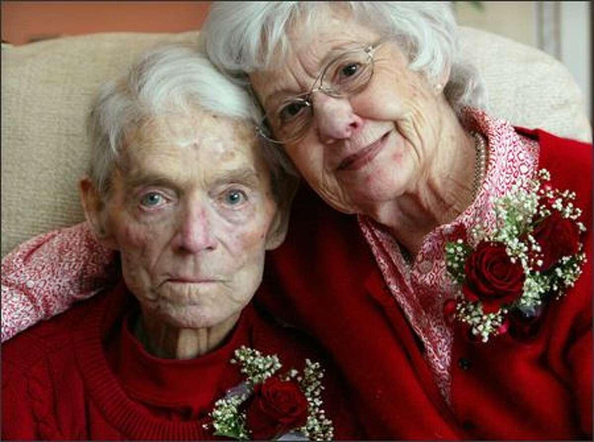 Louis and Betty Kill celebrate their 61st wedding anniversary at the Bessie Burton Sullivan Senior Center at Seattle University campus on February 14, 2006. (PI photo/Karen Ducey)