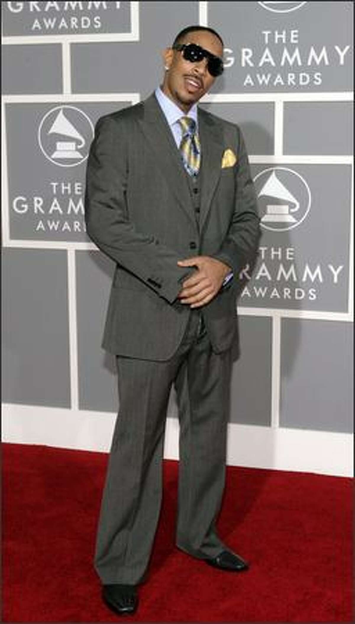 Rapper and actor Ludacris arrives for the 49th Annual Grammy Awards. (AP Photo/Matt Sayles)