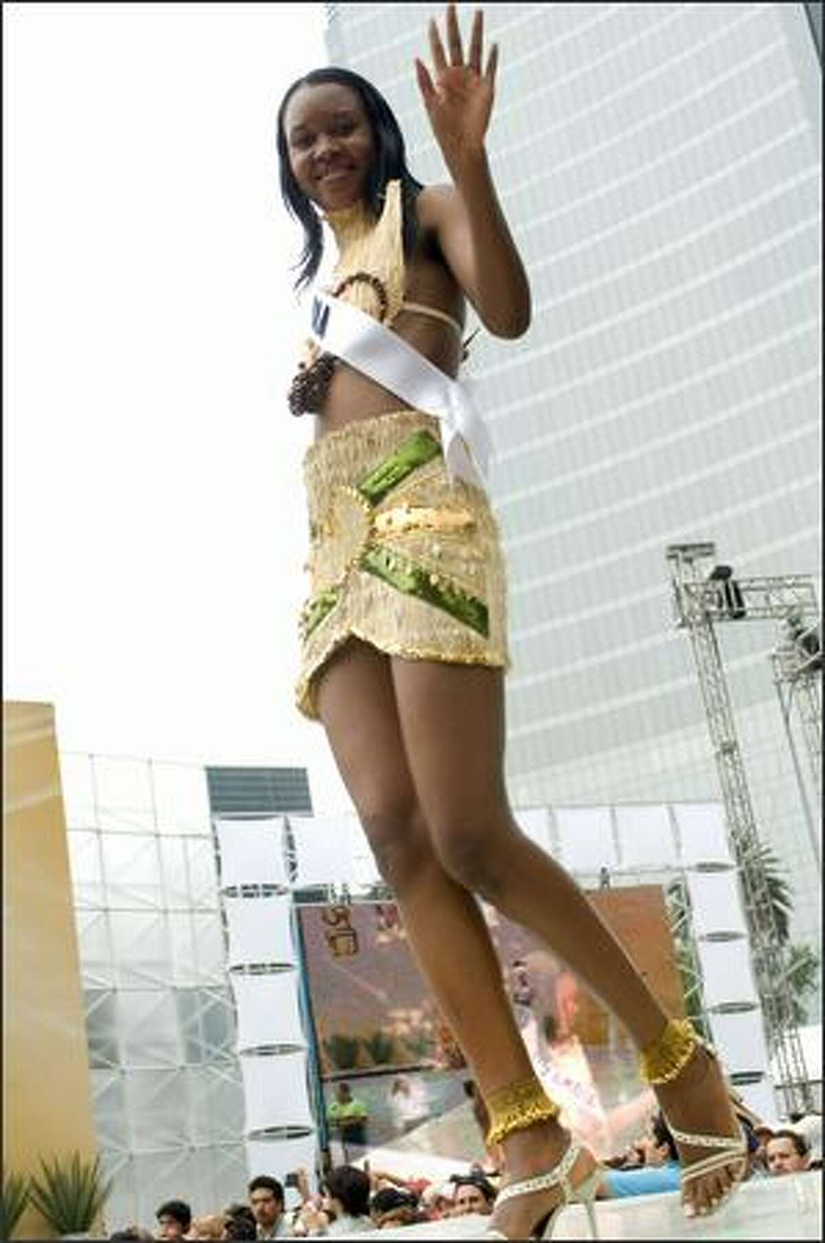 Rosemary Chileshe, Miss Zambia 2007.See more national costume photos in the May 20 daily gallery.